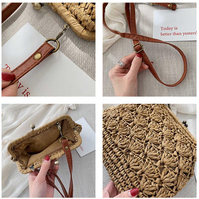 2899ffaa7279f Mododiino Female Vintage Straw Beach Rattan Bags Lady Handbag Crossbody Bag  For Women Evening Clutch Bags womens' pouch DNV1001