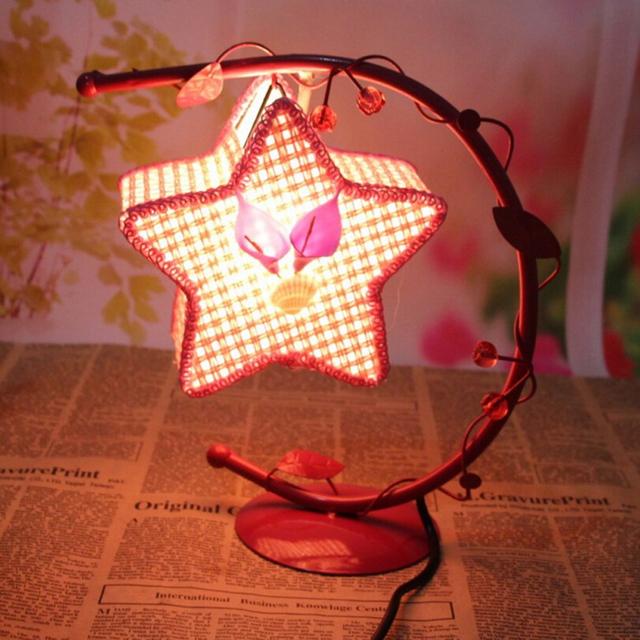 Retro europeia Lâmpadas de Cristal de Sal Lâmpadas de Cristal de Sal de Ferro Pendurado Estrela Lâmpada de Mesa Com Plug EUA