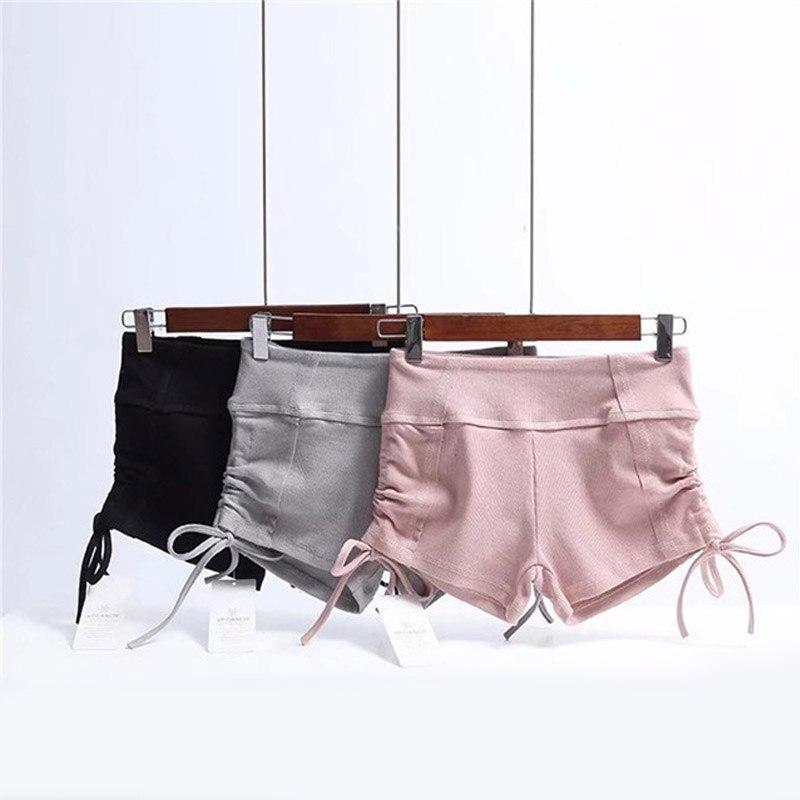 Elasticity Cool   Shorts   Women Soild Color Sexy Pole Dance 2018 Summer   Short   Fitness Female   Shorts   Gray Pink Black WS055