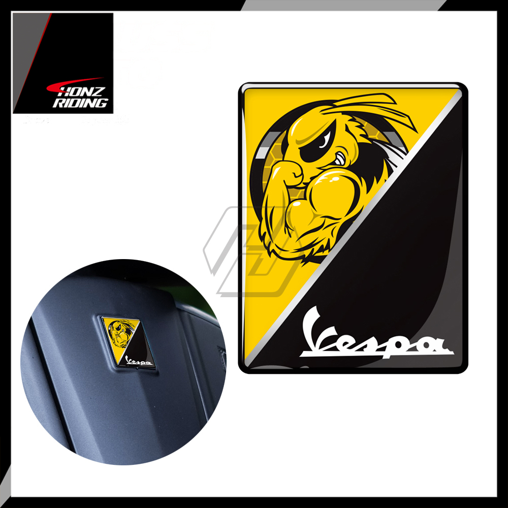 For PIAGGIO VESPA GTS GTV LX LXV 125 250 300 Ie Super 3D Motorcycle Front Badge Overlay Mio Sticker