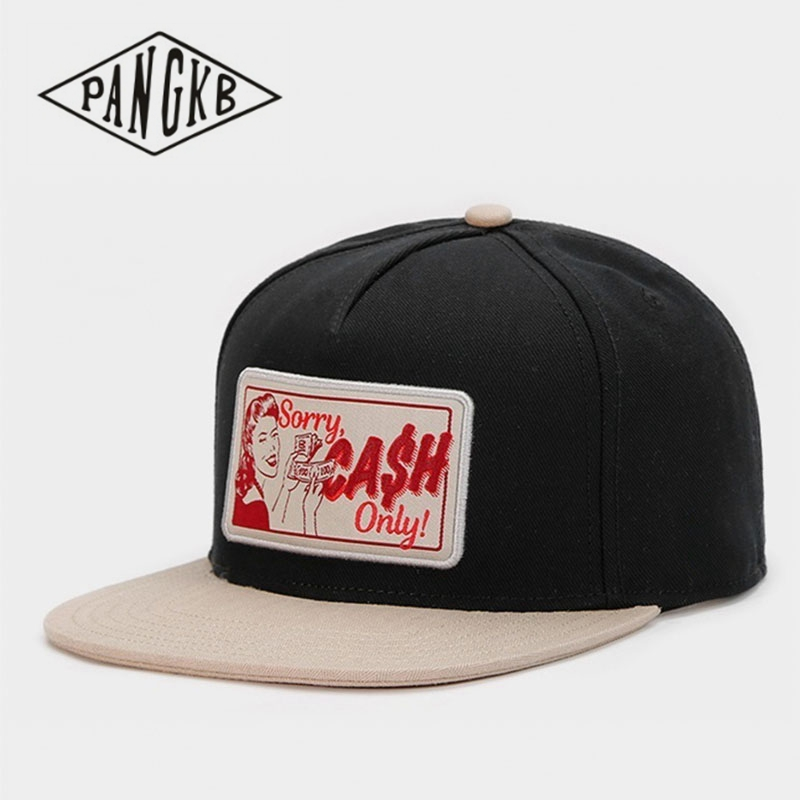 70654834 US $8.88 37% OFF|PANGKB Brand CHO CAP black high quality Hip Hop snapback  hat for men women adult outdoor casual adjustable sun baseball cap-in Men's  ...