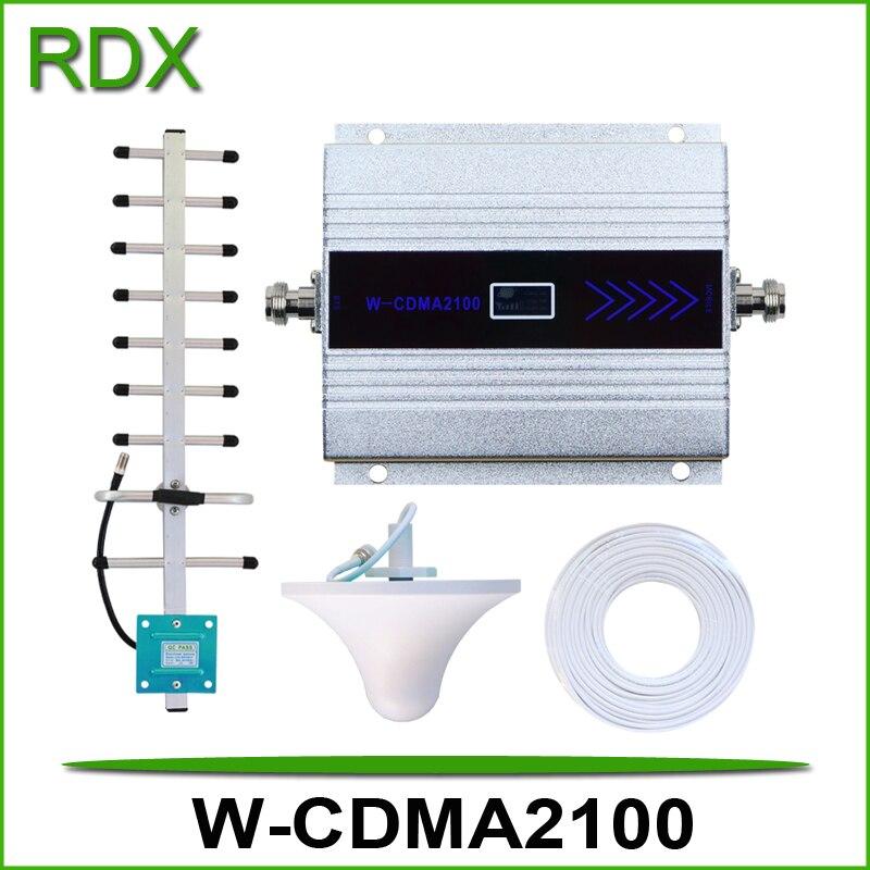 Vente chaude téléphone portable w-cdma 2100 mhz UMTS 3g répéteur pour téléphone mobile wcdma2100 3g amplificateur de signal d'appoint avec écran lcd
