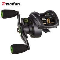 Piscifun Phantom Carbon Fiber Ultralight 162g Baitcasting Reel Dual Brake 7 7kg Max Drag 7 0