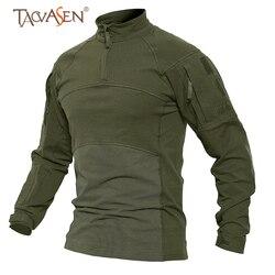 TACVASEN Men Quick Dry Tactical T-Shirt  Long Sleeve Army Military Shirt T Shirt Patchwork Plus Size Hunting Fishing T Shirts