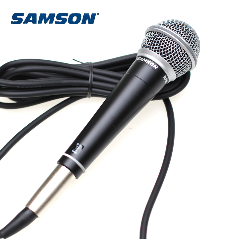 Samson R21S Professional dynamic handheld microphone for karaoke and recording with cable and mic clip