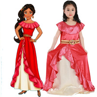 Latina Princess Elena Dress From TV Elena Of Avalor Adventure Next Child Halloween Costumes For Girl
