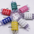 waterproof 5730 3LEDs Injection molding LED Module super bright led modules lighting red/green/blue/Yellow/Pink/Warm 20pcs 12V