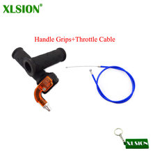 Xlsion Gas Karburator Throttle Kabel Twist Pegangan Grip untuk 2 Stroke 47cc 49cc Mini Moto Kotoran Anak ATV Quad Super saku Sepeda(China)