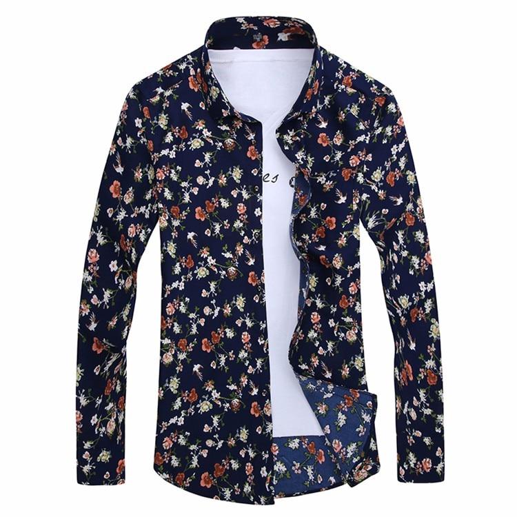 HTB1ezW9LpXXXXXUaXXXq6xXFXXXO - 2017 Retro Floral Printed Man Casual Shirts Fashion Classic Men Dress Shirt