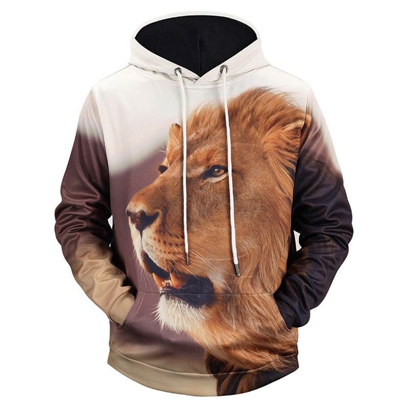 Headbook New Fashion Animal Printed Hoodies Women/Men 3d Sweatshirts Print Mighty Lion Hooded Hoodies Hoody H1306