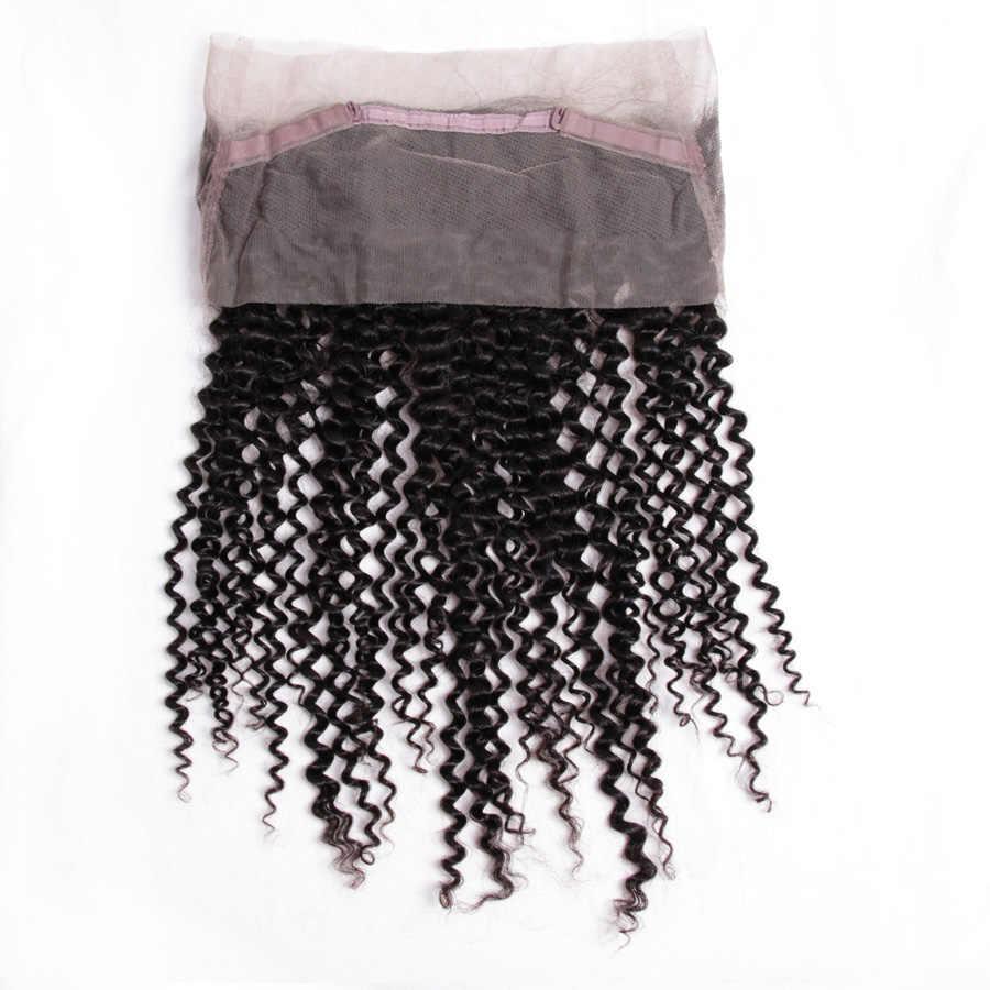 Габриель индийские кудрявые предварительно сорванные 360 кружева фронтальное Закрытие с волосами младенца не Реми человеческие волосы бесплатная доставка 8-22 дюймов