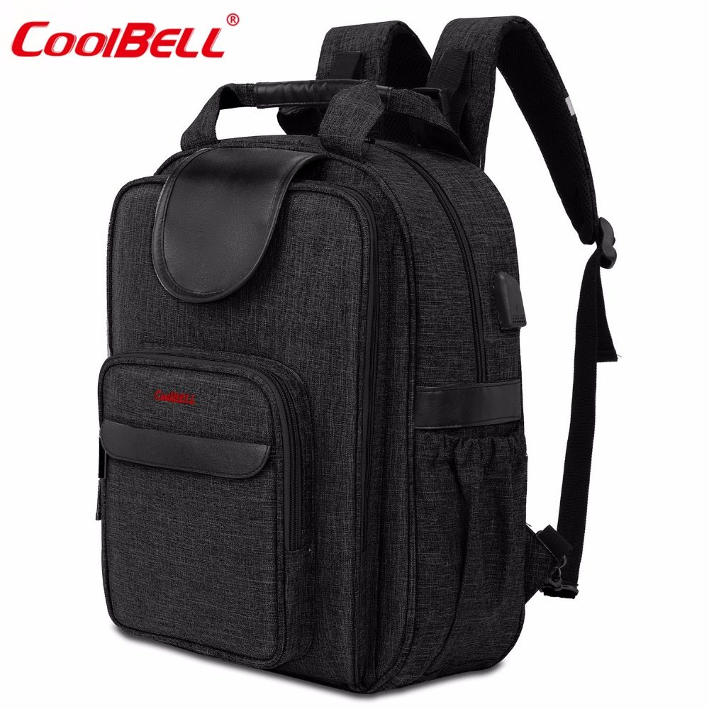 CoolBell Brand Baby Nappy Bag Maternity Mummy Bag Multifunctional Waterproof Stroller Bag Backpack for Baby care недорого