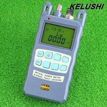 Kelushi все-в-одном Волокна измеритель оптической мощности-70 до + 10dBm 10 МВт 10 км кабель тестер Визуальный дефектоскоп FTTH тестер инструмент
