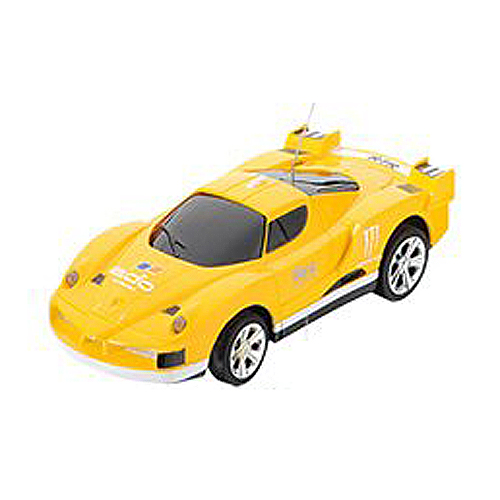 HFES Mini Miniature Race Car Vehicle Toy RC Radio Remote Control yellow
