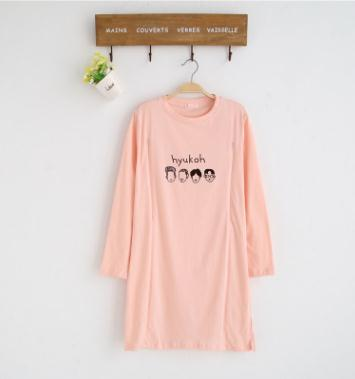 Maternity Nursing Dress 2019 Summer Autumn Pregnant Wear Cotton Long Sleeve Print Breastfeeding Clothes For Pregnant Women WX630