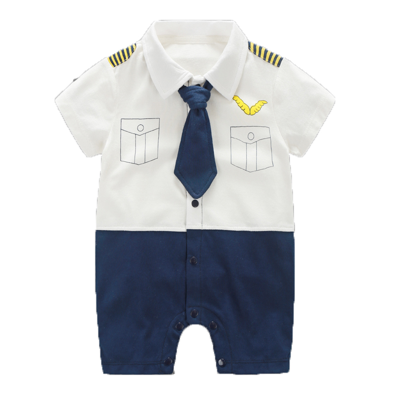 Newborn Baby Boy Rompers 100% Cotton Tie Gentleman Clothing Set Bow Leisure Body Suit Toddler Jumpsuit Baby Boys Clothes 0-18M