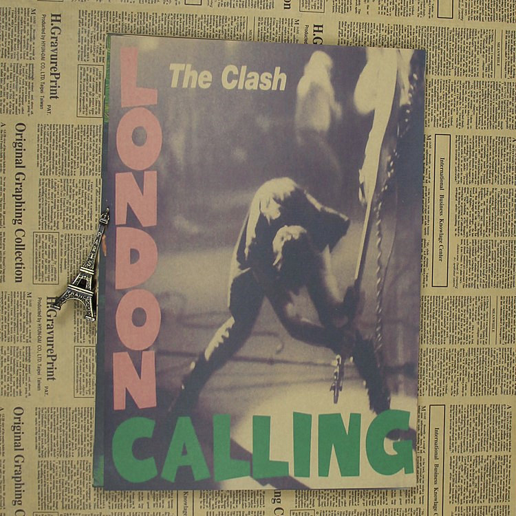 Crash Band Clash London Calls Rock Punk Brown Paper Poster Kraft Paper Poster Retro Poster Band Poster
