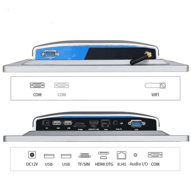 IP65 19 Inch Fanless Touch Screen Industrial PC Desktop Computer All In One Panel PC Waterproof Tablet For Medical Treatment