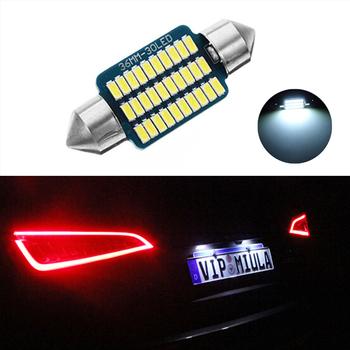 1X Dome Festoon 3014 Error free License Number Plate Light For Mercedes Benz W208 W209 W203 W169 W210 W211 W212 AMG CLK image