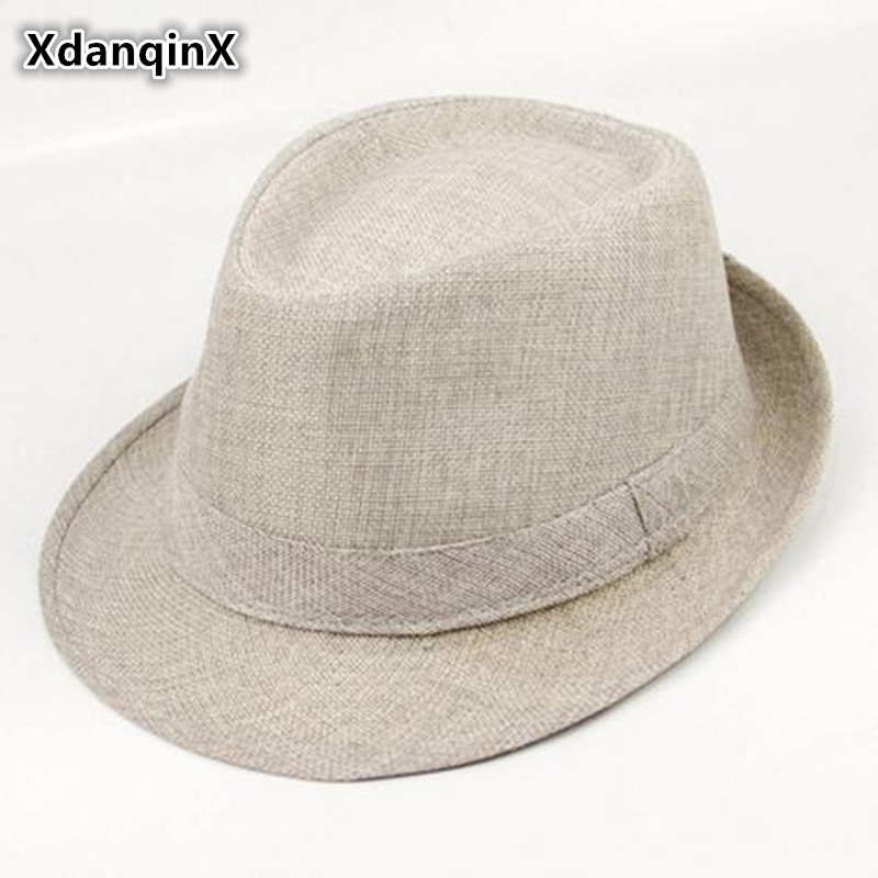 Xdanqinx unisex verano sólidos estilo occidental retro Inglaterra Jazz Moda  hombre mujer pareja casual SnapBack Sun sombreros de papá sombrero en  Sombreros ... 92839a802bb