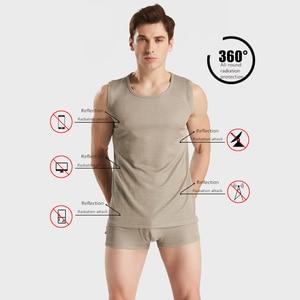 Image 2 - Ajiacn electromagnetic radiation protection silver fiber mens underwear EMF shielding four seasons close fitting underwear
