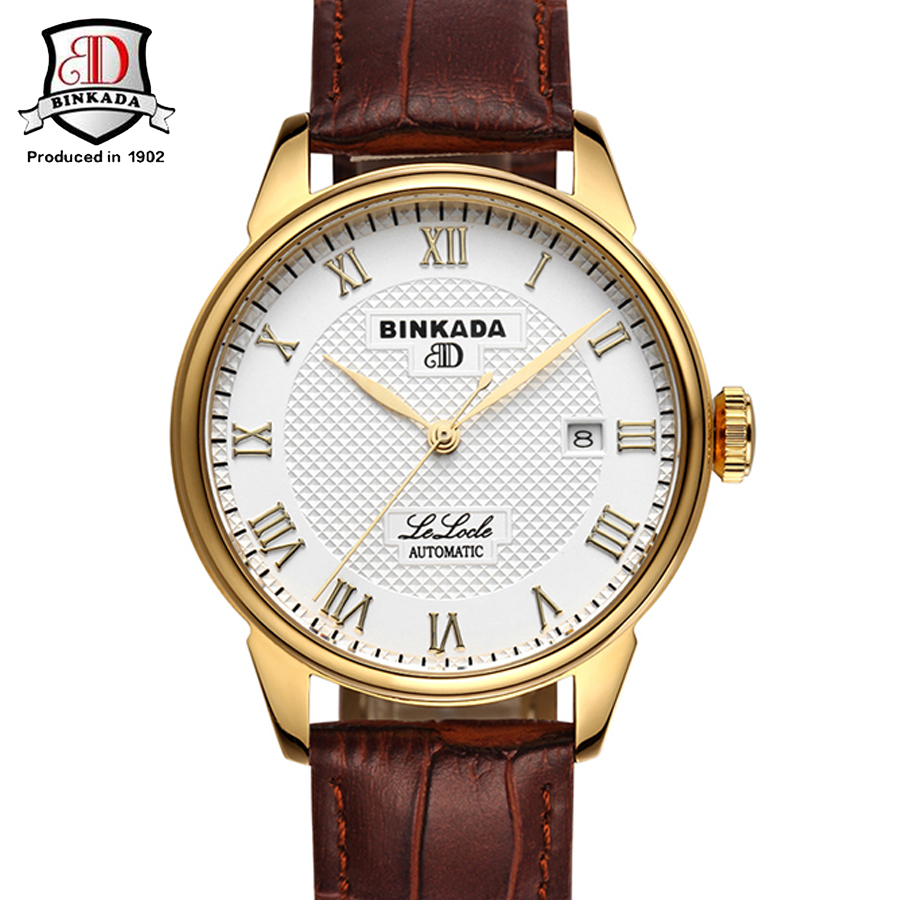 Фотография BINKADA Brand Luxury Sport Watch Mens Automatic Simple Mechanical Watches Men