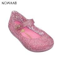 Mini Melissa Campana Zig Zag Girl Sandals 2019 Jelly Sandals Kids Sandals Children Beach Shoes Non slip Toddler Shoes
