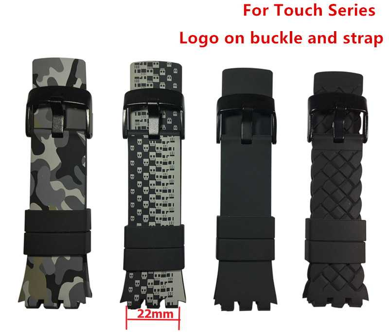Original quality watchband Accessories watch strap band For Swatch for Touch series Silicone 22mm stainless buckle logo SURB100