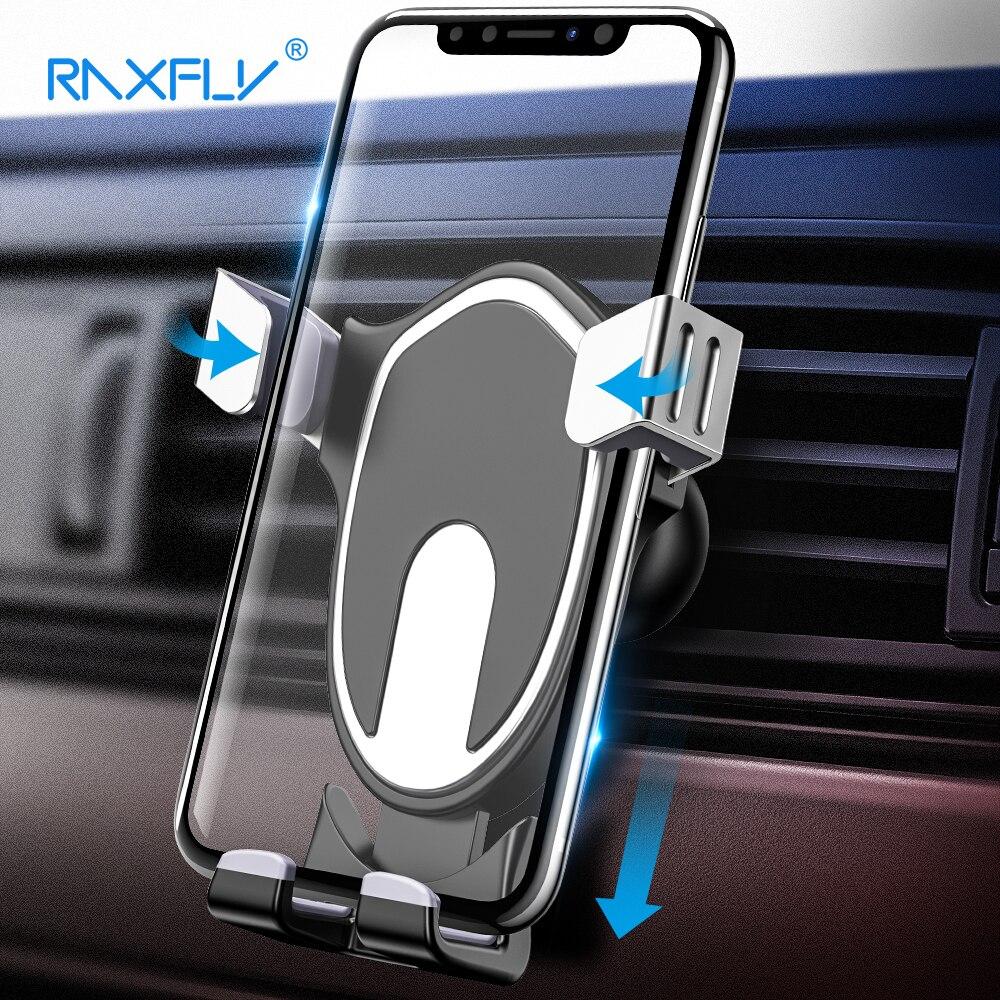 RAXFLY soporte gravedad teléfono coche titular para iPhone X 8 Plus Air Vent Mount Holder Teléfono para Xiao mi mi 8 soporte del sostenedor de Samsung