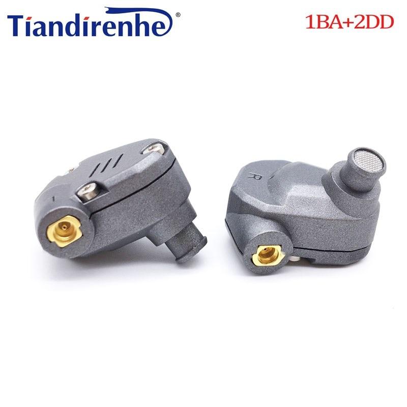 $33.13 TIANDIRENHE TD102 1BA+2DD Hybrid In Ear Earphone HIFI Monito Running Sport Headset Earphone with MMCX Detachable For iphone