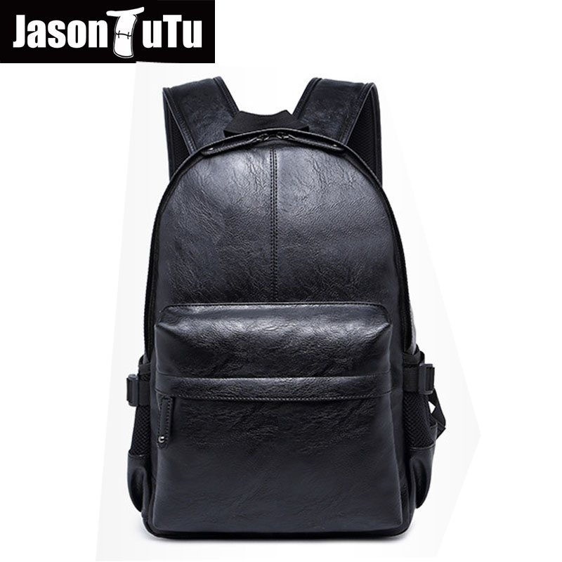 Aliexpress New Listing Good quality Black PU leather backpack vintage men laptop backpack travel bagpack pocket DropshippingAliexpress New Listing Good quality Black PU leather backpack vintage men laptop backpack travel bagpack pocket Dropshipping