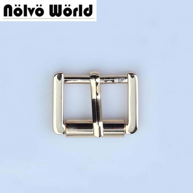 Inner 20mm (3/4) width light gold color turn buckle square pin buckle,alloy metal shoes bags belt buckles DIY accessory sewing