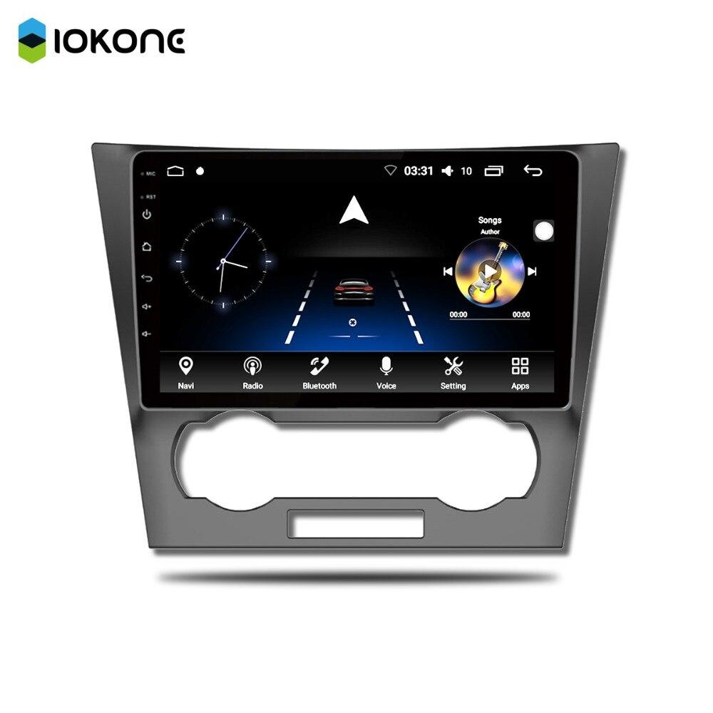 IOKONE автомобильный Android 7,1/8 мультимедийный DVD плеер 2Din стерео 8 Core gps Радио ips 2.5D 9 дюймов навигации для ELT EPICA радио