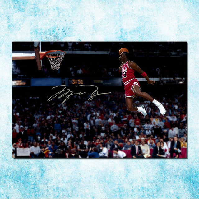 402273f7e226 Michael Jordan Shoes MJ 23 Chicago Bulls MVP Basketball Silk Canvas Poster  13x20 24x36inch Picture For Room Decor (more)-4