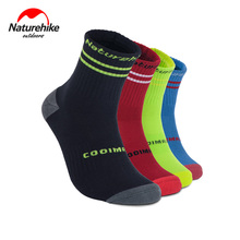 Naturehike Unisex Coolmax Breathable Socks Outdoor Sport Sweat Absorbing Qucik-dry Mid-calf Length NH17A016-W