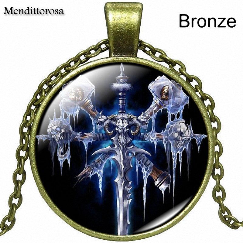 For Women Men Steampunk Jewelry Glass Cabochon Necklace Pendant Wow