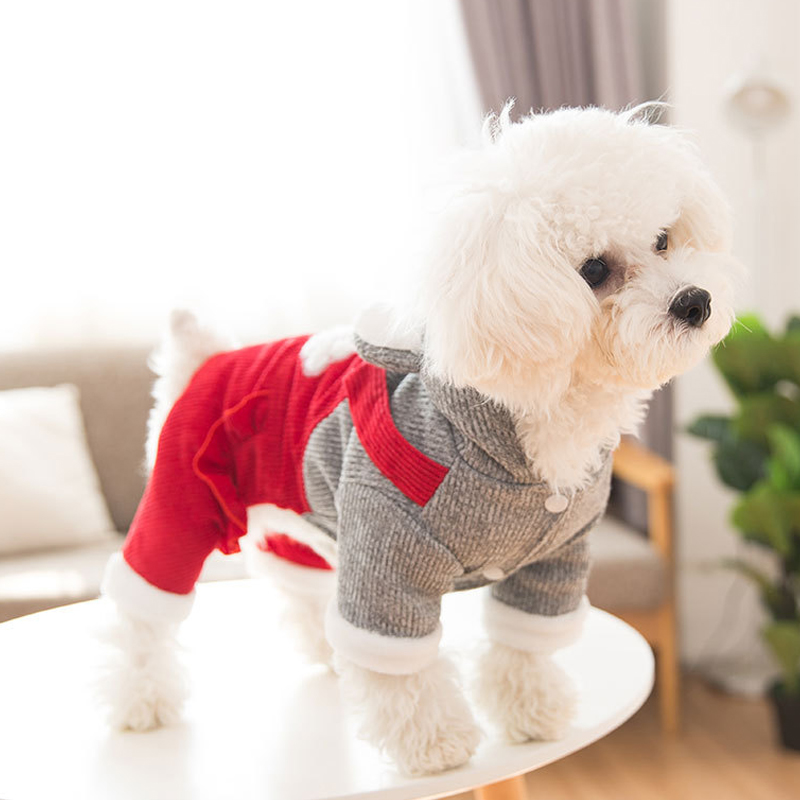 Cute Ears Pitbull Funny Dog Clothing Small Puppy Apparel For Yorkie Accessories Cute Winter Warm Thick Pet Hoodie Coat Pug in Dog Down Parkas from Home Garden