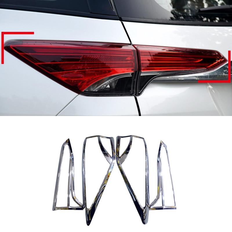 Для Toyota Fortuner AN160 2016 2017 задний фонарь рамка Крышка отделка АБС 4 шт. автомобиля-аксессуары для укладки