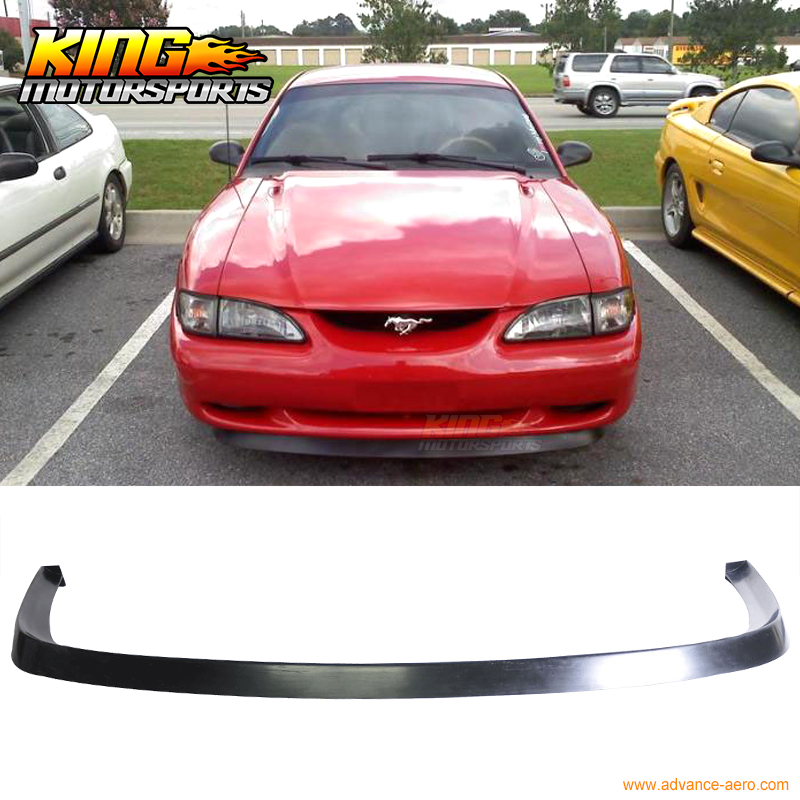 FOR 1994 1995 1996 1997 1998 FORD MUSTANG GT STYLE FRONT BUMPER LIP SPOILER PU