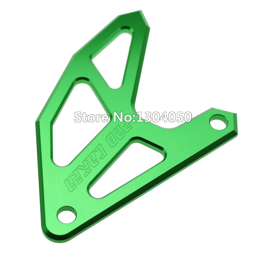 New CNC Billet Rear Brake Disc Guard For KX250F KX450F <font><b>KX125</b></font> KX250 KLX450R GREEN image