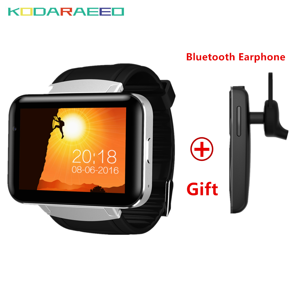 Hot DM98 GPS 3G Smart Watch Android With SIM Card Pedometer Sports Tracker Smartwatch Phone 900mAh BT4.0+Free Bluetooth Headset dm98 gps 3g smart watch android with sim card pedometer sports tracker smartwatch phone 900mah wifi bt4 0 wristwatch men rsmtte