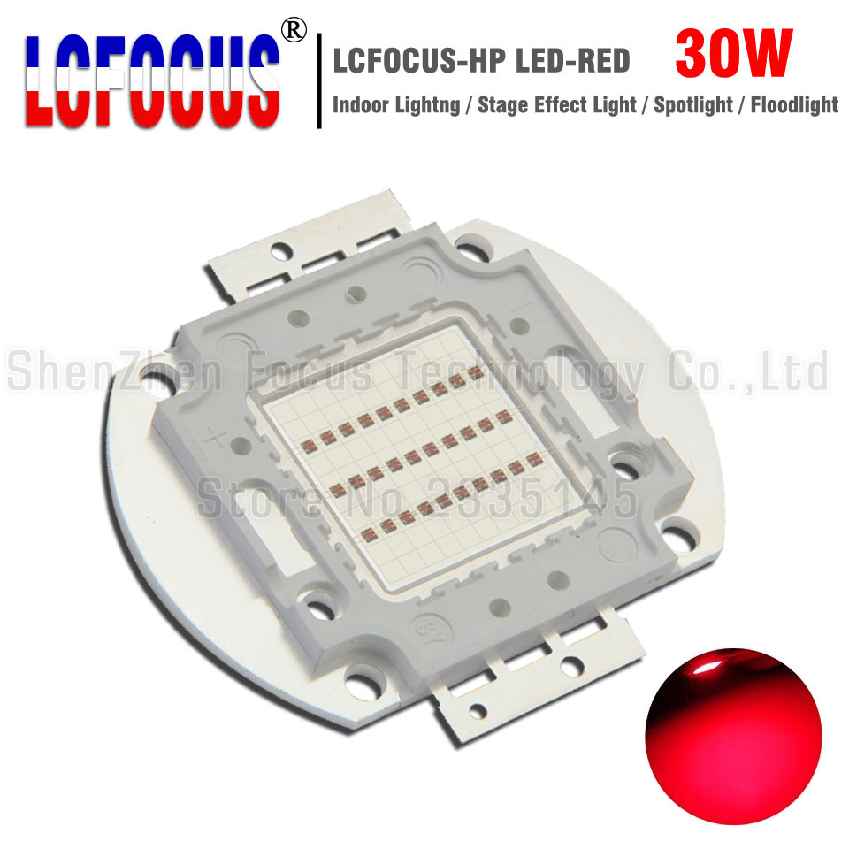 30W Red 620-625nm 20-24V DIY Spotlight Stage Light Floodlight For 30W 60W <font><b>90W</b></font> 120W 150W Watt <font><b>LED</b></font> COB <font><b>Chip</b></font> SMD Bulb Lamp image