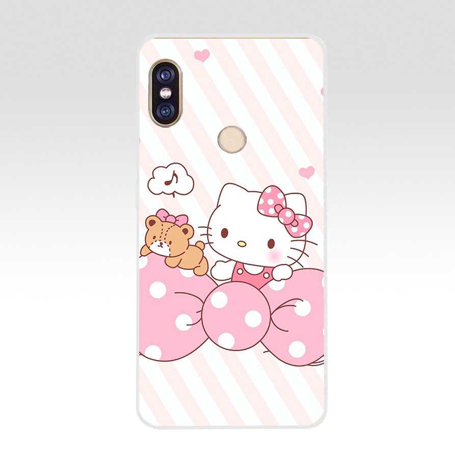 76A de moda Hello Kitty suave silicona Tpu funda para teléfono para xiaomi Redmi 6 pro note 6 pro 5 plus 4 4x mi 8