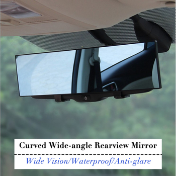General Car Rearview Mirror Planar Large Sucker Interior Baby Reversing Wide Angle HD Curved Mirror 1PC