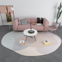 INS Fashion Personality Shaped Carpet Nordic Geometric Living Room Coffee Table Rug Color  Floor Mat