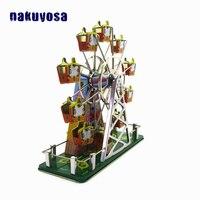 Childhood Memories Ferris Wheel Music Box Children Vintage Tin Toy Reminiscence Metal Wind Up Toy Clockwork Toys For Adult