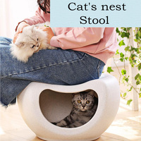 Multi function Pet Cat Bed Kitty Warm House Cool Stool Chair Sturdy Durable Furniture Kitten House Beds Pet Supplies Accessories