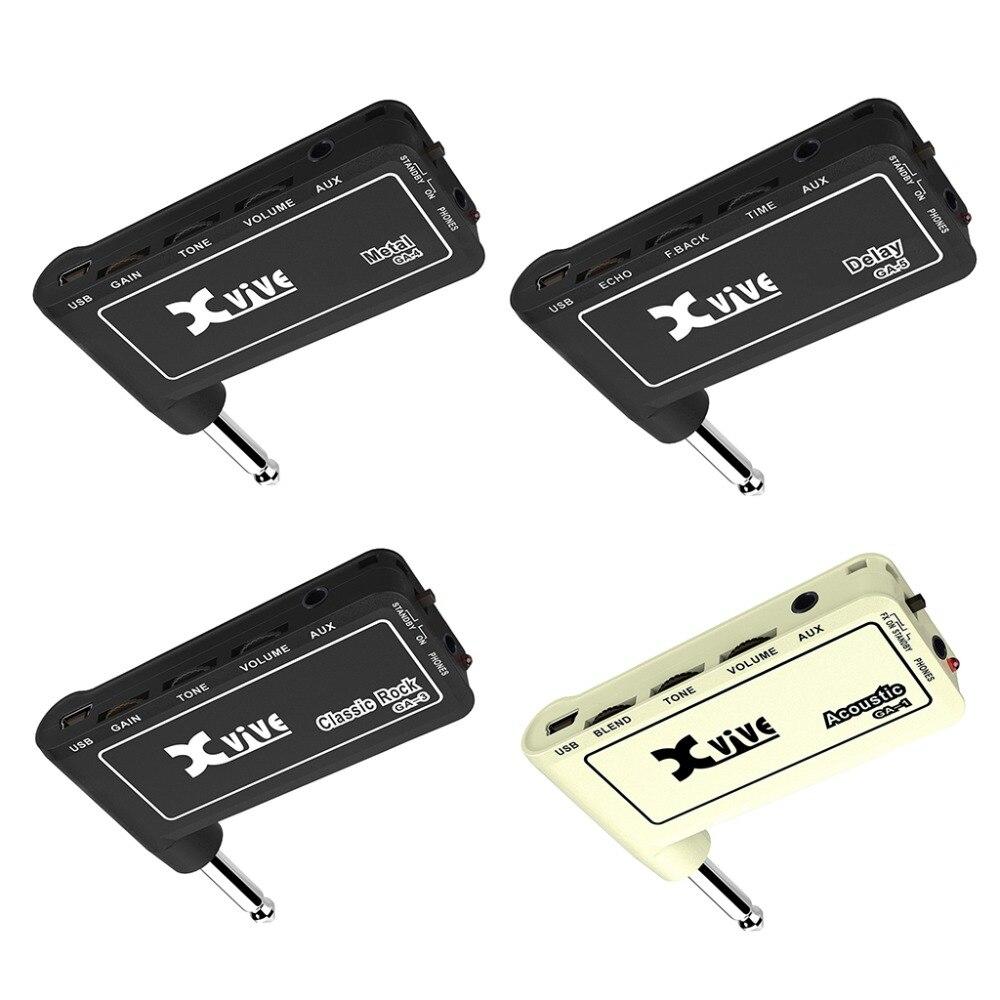 1pc Guitar Plug Mini Portable Recharge Elec Headphone Amp Amplifier Acoustic/ Rock/ Metal/ Delay