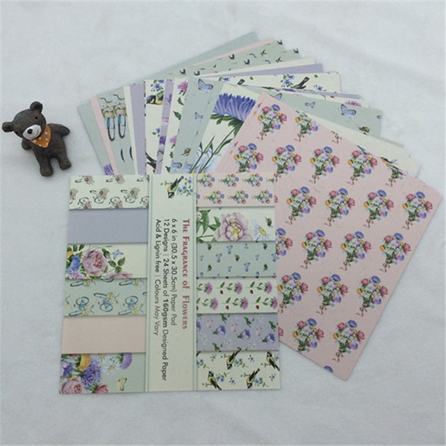 24 Sheets Beautiful Theme Paper Crafts Scrapbooking Craft Card