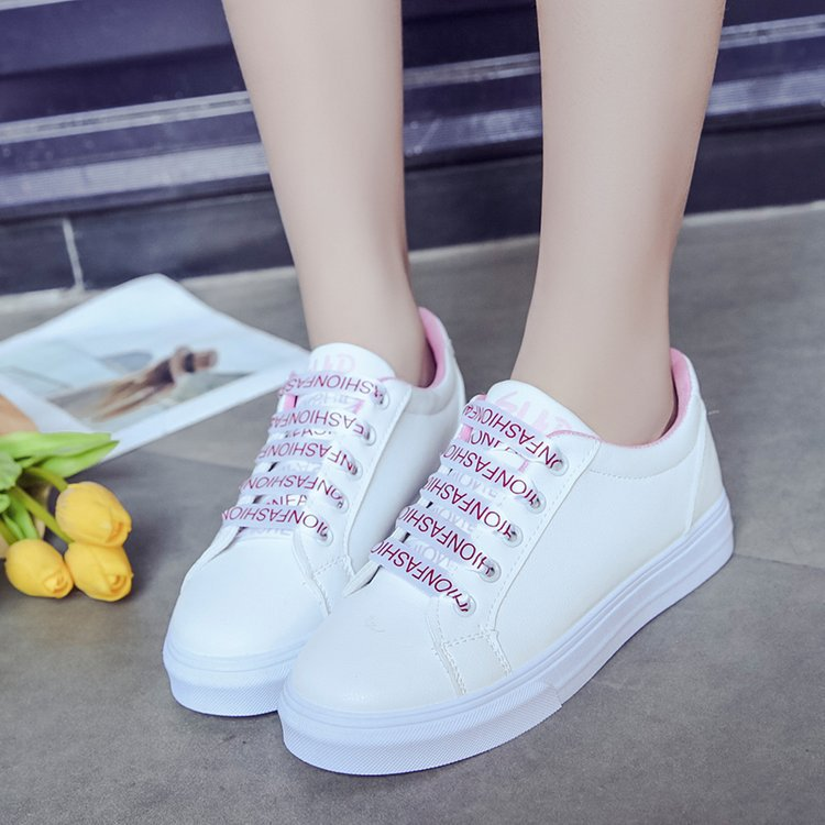 Women White Shoes 2018 Spring New Female Casual Shoes Fashion Sneakers Zapatillas Deportivas Mujer white sky pink 36-40